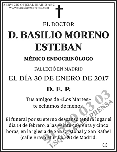Basilio Moreno Esteban